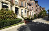 Back Bay residential district in Boston